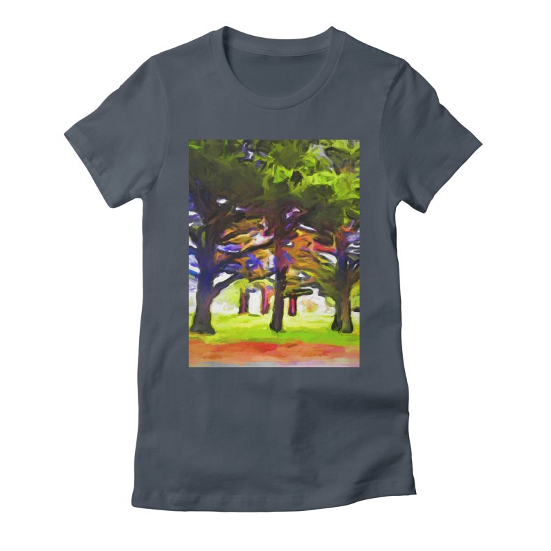 Pink Tree Trunks Women's Fitted T-Shirt by jackievano's Artist Shop