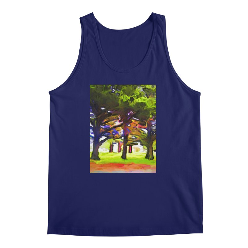 Pink Tree Trunks Men's Regular Tank by jackievano's Artist Shop