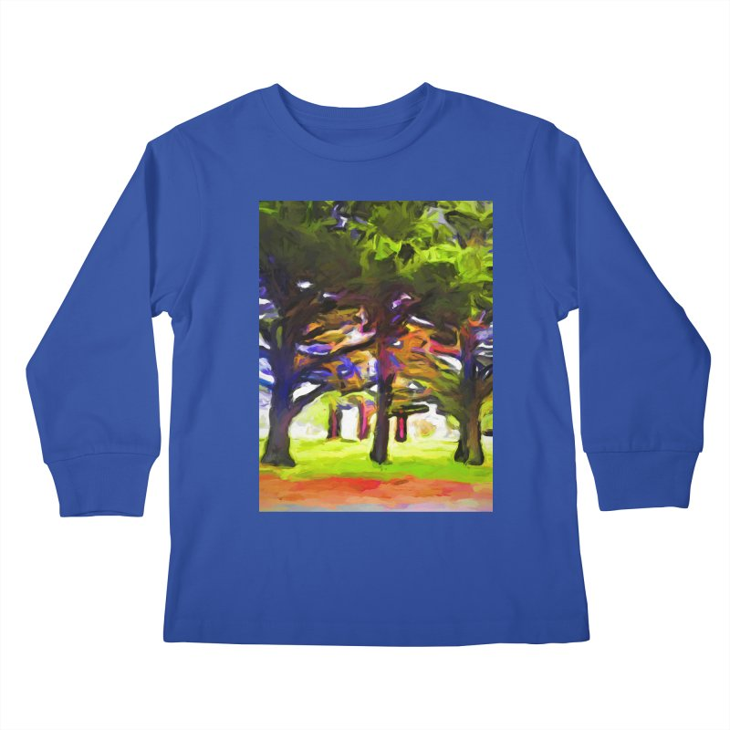 Pink Tree Trunks Kids Longsleeve T-Shirt by jackievano's Artist Shop