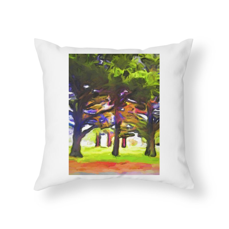 Pink Tree Trunks Home Throw Pillow by jackievano's Artist Shop