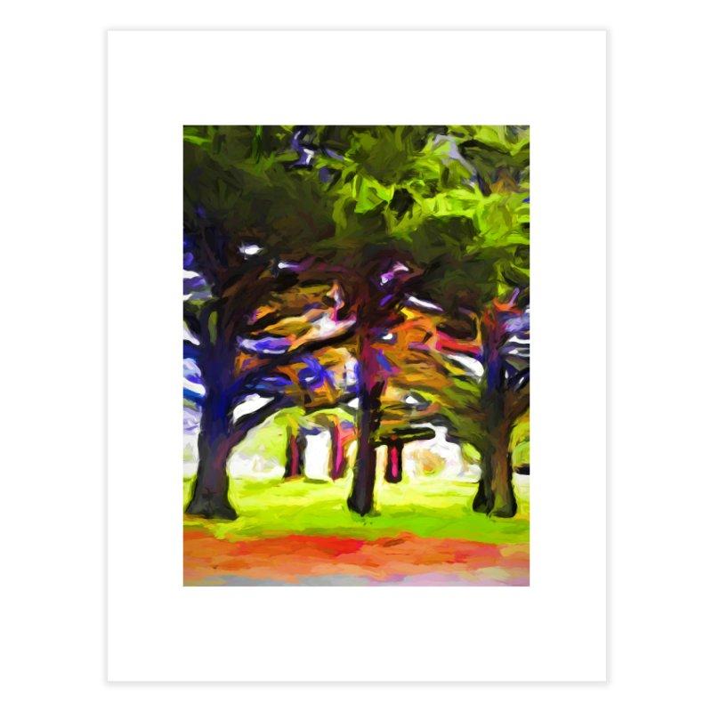 Pink Tree Trunks Home Fine Art Print by jackievano's Artist Shop