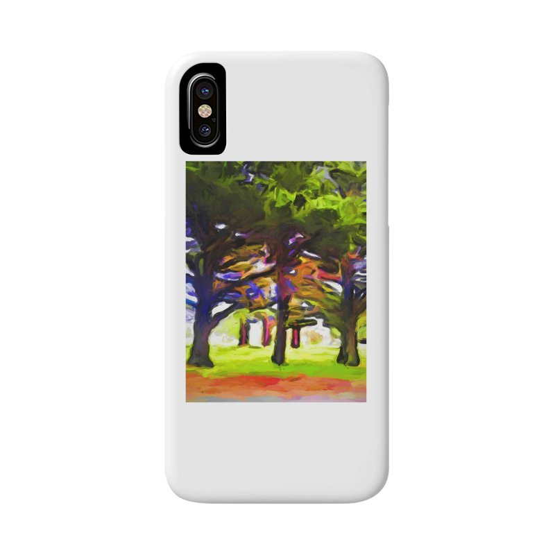 Pink Tree Trunks Accessories Phone Case by jackievano's Artist Shop