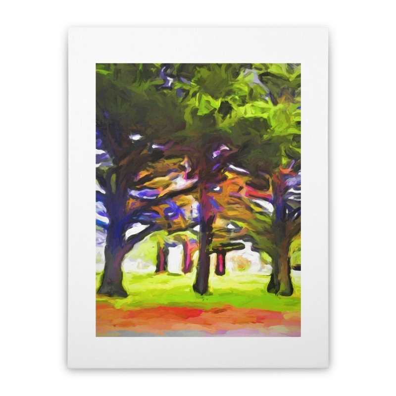 Pink Tree Trunks Home Stretched Canvas by jackievano's Artist Shop