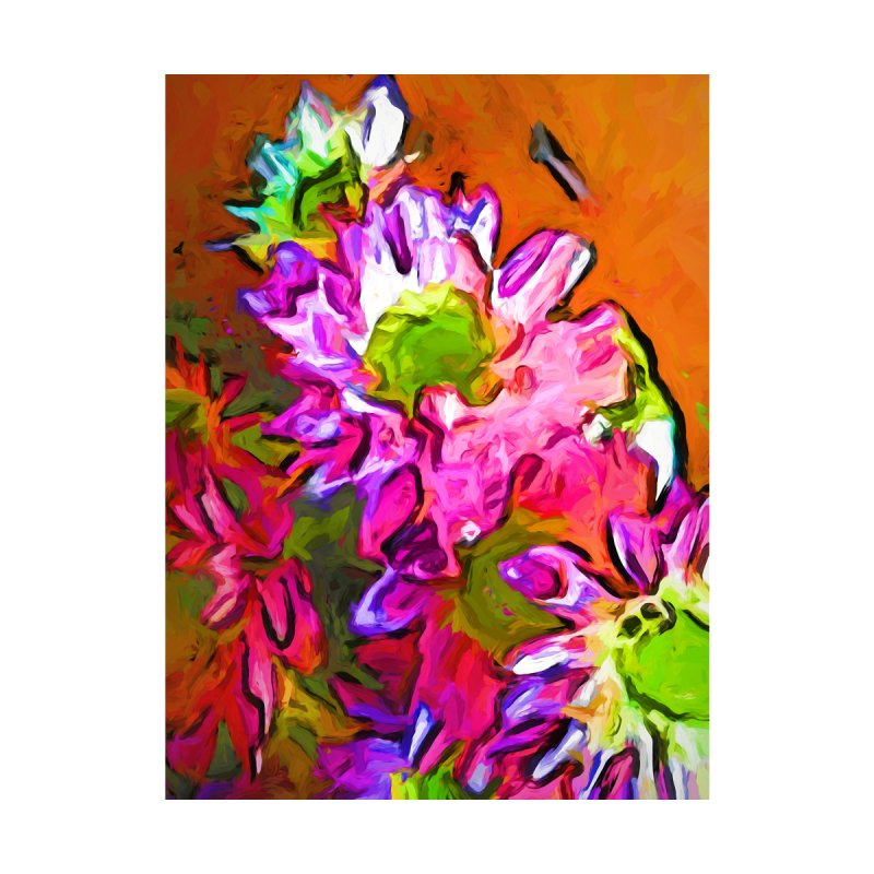Diagonal of Daisies by jackievano's Artist Shop