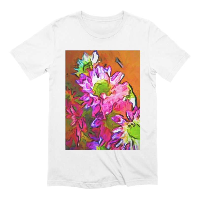 Diagonal of Daisies Men's Extra Soft T-Shirt by jackievano's Artist Shop