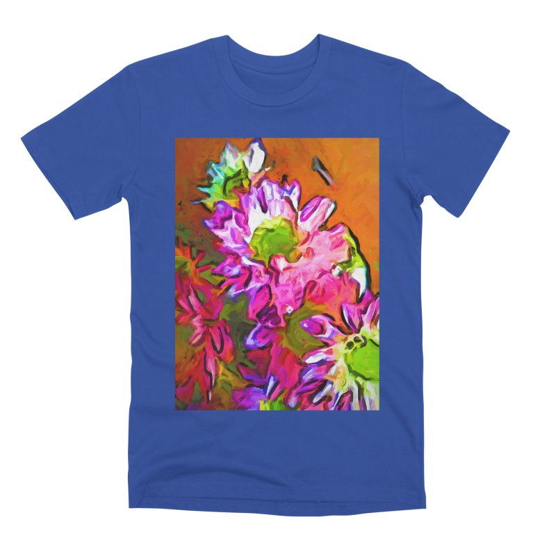 Diagonal of Daisies Men's Premium T-Shirt by jackievano's Artist Shop