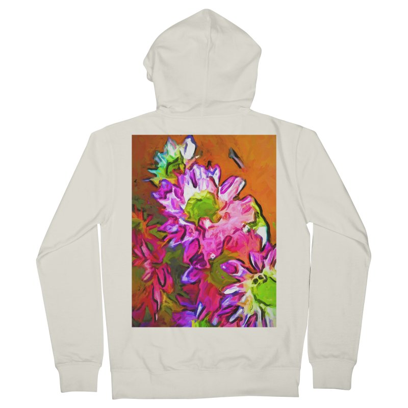 Diagonal of Daisies Men's French Terry Zip-Up Hoody by jackievano's Artist Shop