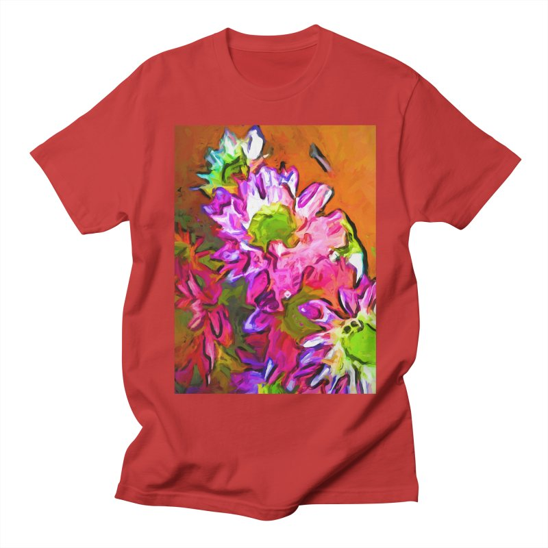 Diagonal of Daisies Women's Regular Unisex T-Shirt by jackievano's Artist Shop