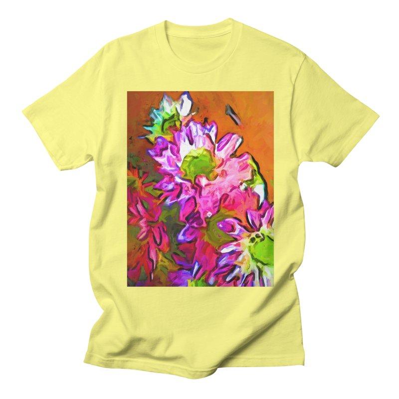 Diagonal of Daisies Men's Regular T-Shirt by jackievano's Artist Shop