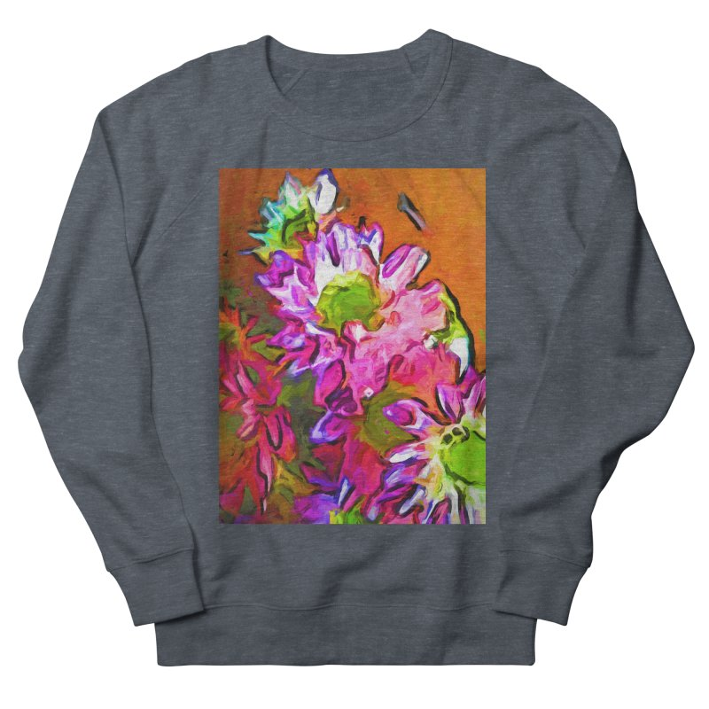 Diagonal of Daisies Men's French Terry Sweatshirt by jackievano's Artist Shop