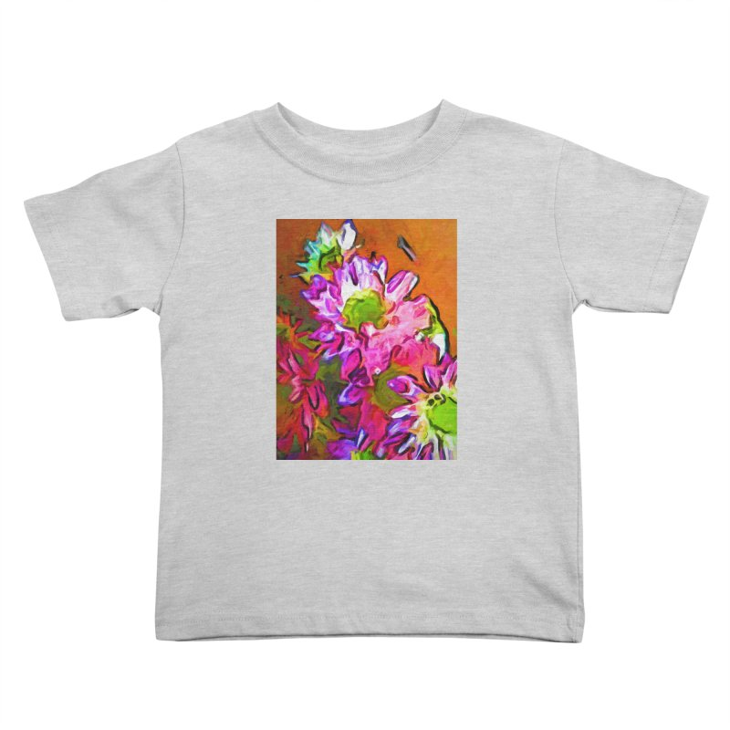 Diagonal of Daisies Kids Toddler T-Shirt by jackievano's Artist Shop