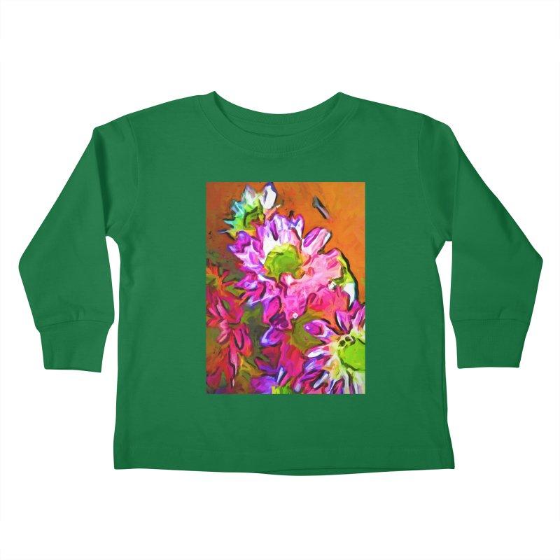 Diagonal of Daisies Kids Toddler Longsleeve T-Shirt by jackievano's Artist Shop