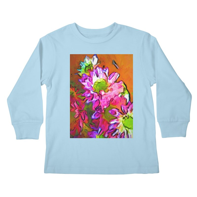 Diagonal of Daisies Kids Longsleeve T-Shirt by jackievano's Artist Shop