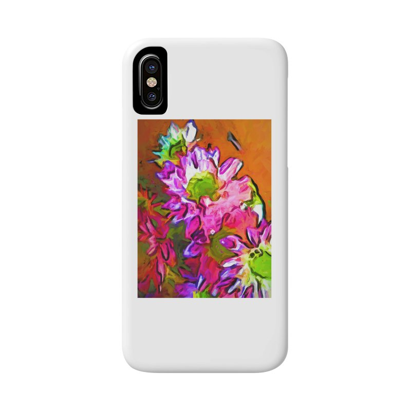 Diagonal of Daisies Accessories Phone Case by jackievano's Artist Shop