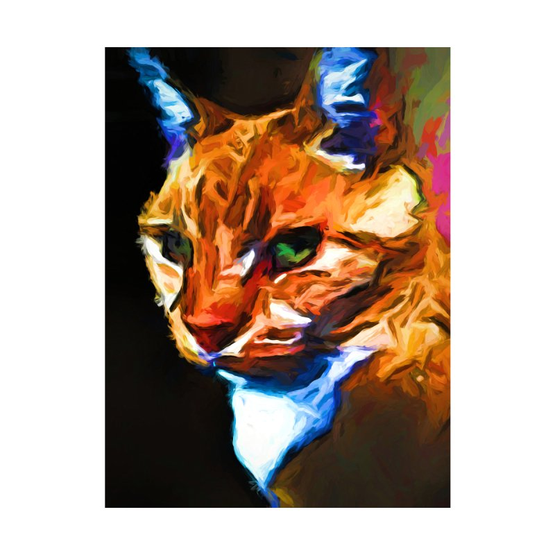Portrait of Cat Looking Left by jackievano's Artist Shop