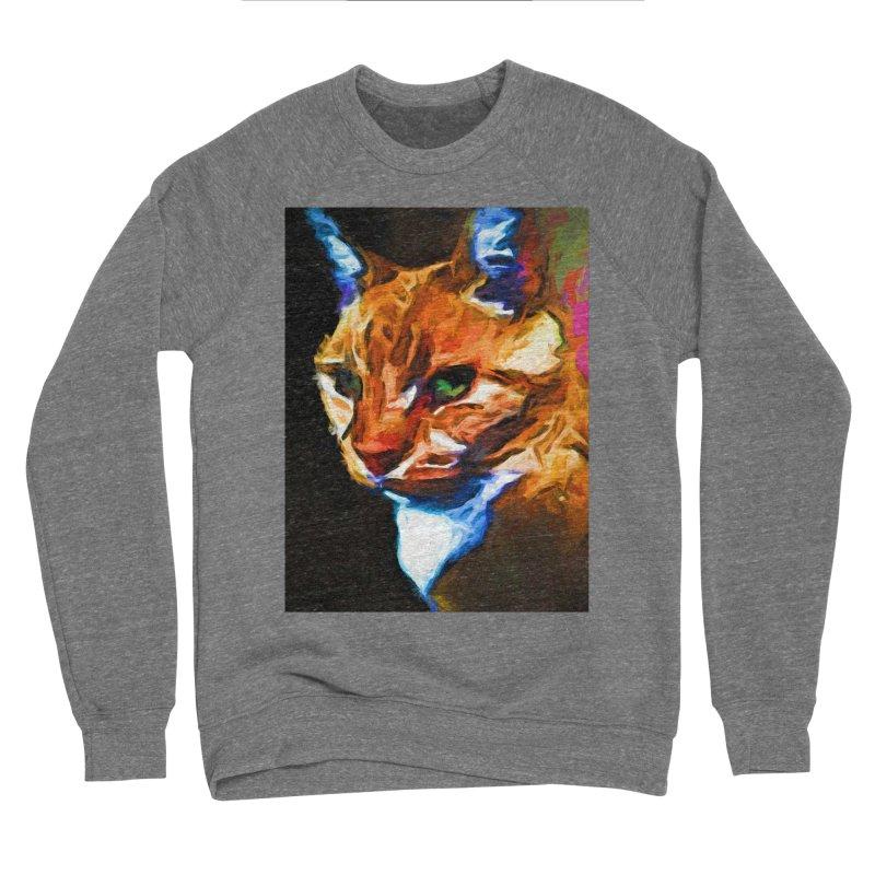 Portrait of Cat Looking Left Men's Sponge Fleece Sweatshirt by jackievano's Artist Shop