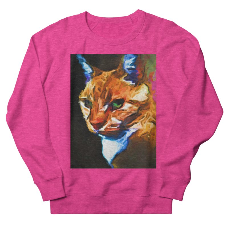 Portrait of Cat Looking Left Women's French Terry Sweatshirt by jackievano's Artist Shop