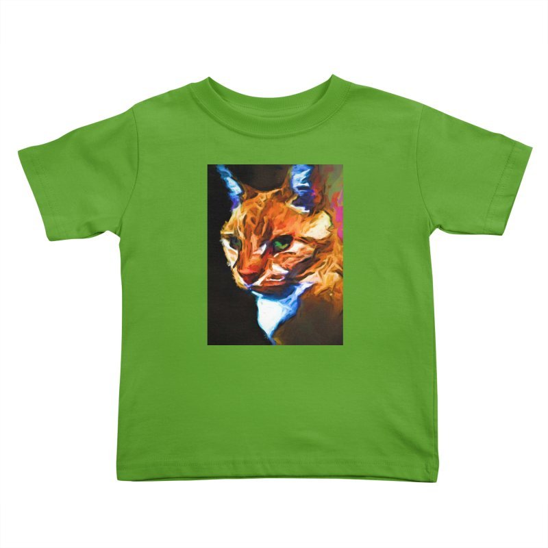 Portrait of Cat Looking Left Kids Toddler T-Shirt by jackievano's Artist Shop