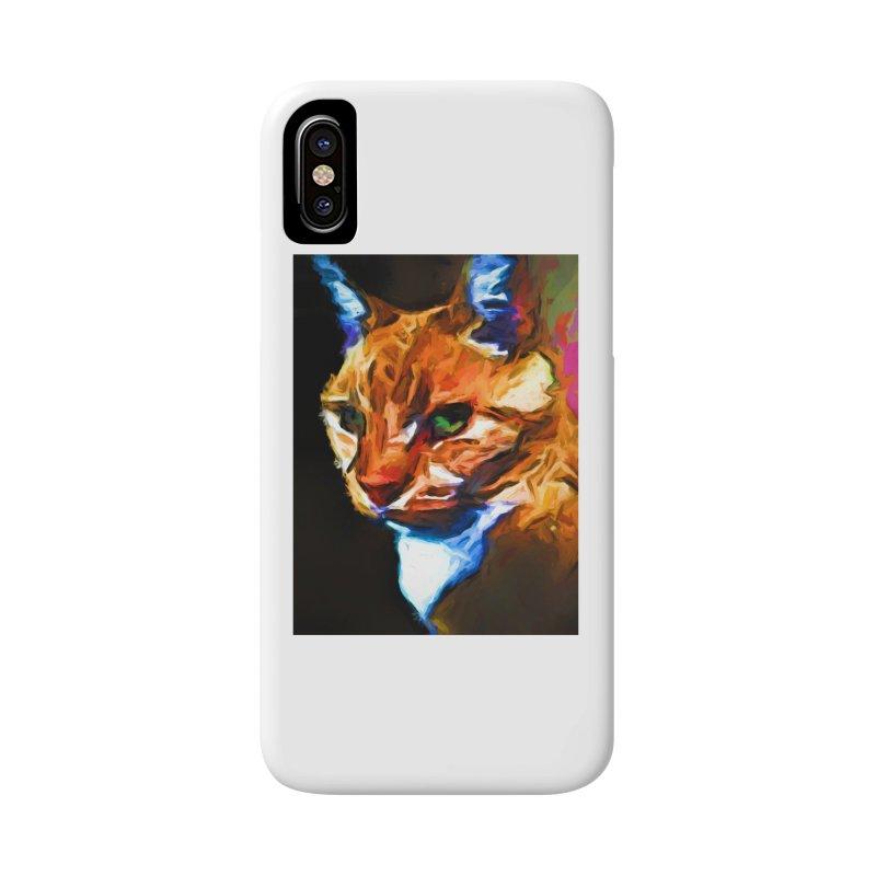 Portrait of Cat Looking Left Accessories Phone Case by jackievano's Artist Shop