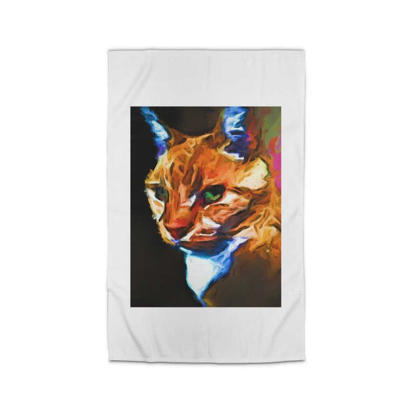 Portrait of Cat Looking Left Home Rug by jackievano's Artist Shop