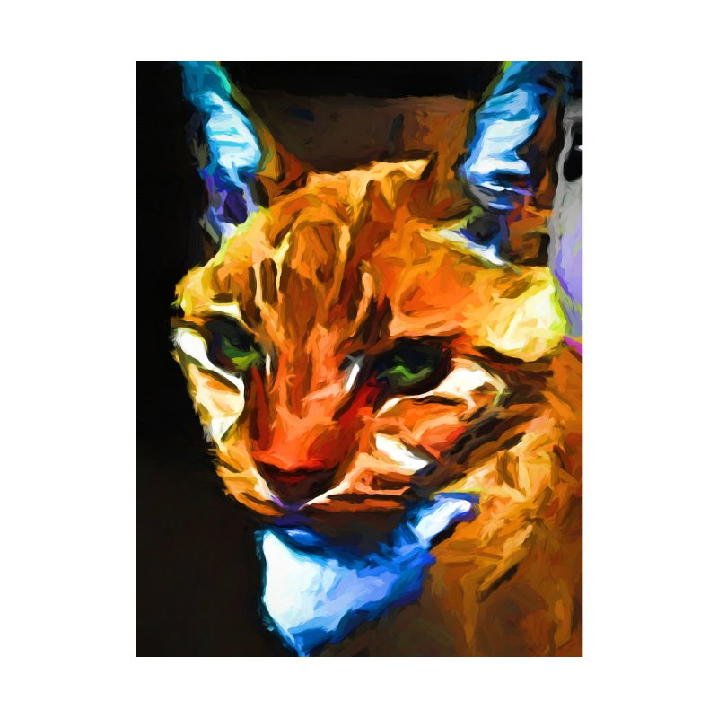 Portrait of Cat Looking Straight Ahead by jackievano's Artist Shop