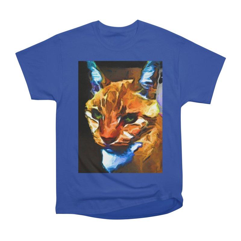 Portrait of Cat Looking Straight Ahead Women's Heavyweight Unisex T-Shirt by jackievano's Artist Shop