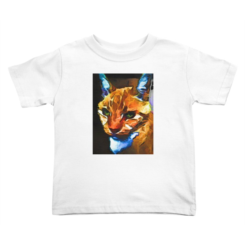 Portrait of Cat Looking Straight Ahead Kids Toddler T-Shirt by jackievano's Artist Shop