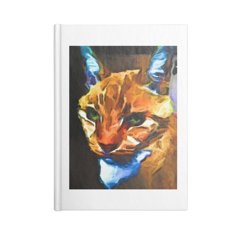 Portrait of Cat Looking Straight Ahead Accessories Notebook by jackievano's Artist Shop