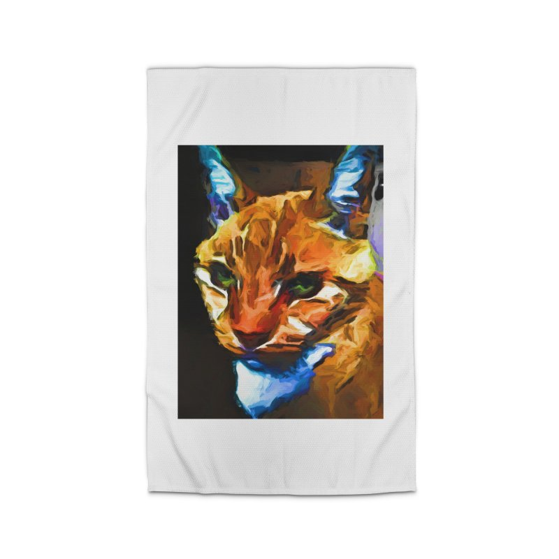 Portrait of Cat Looking Straight Ahead Home Rug by jackievano's Artist Shop
