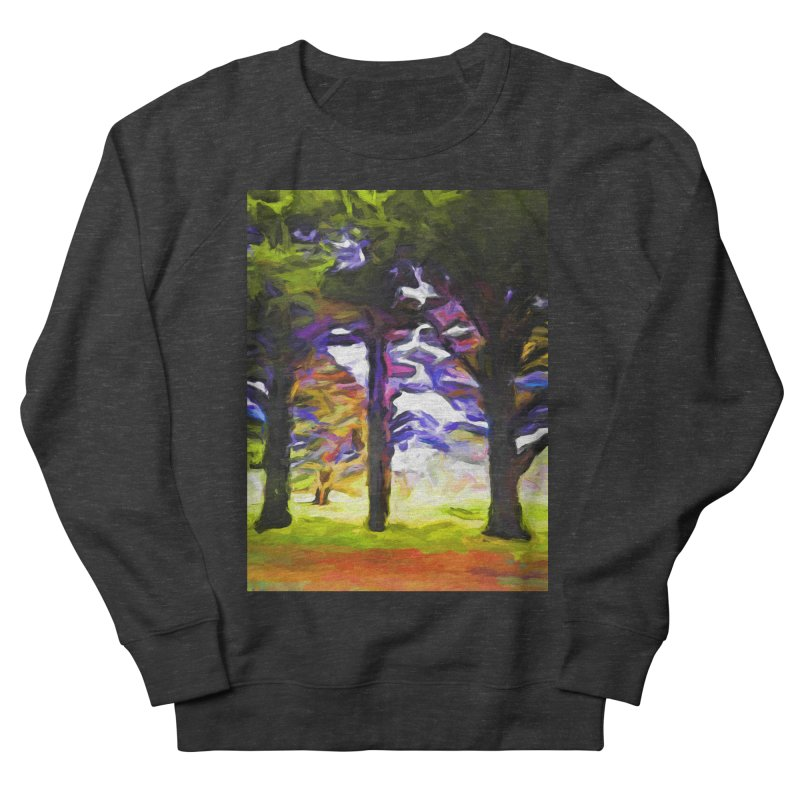 Trees in Row with Pink Branch Women's French Terry Sweatshirt by jackievano's Artist Shop