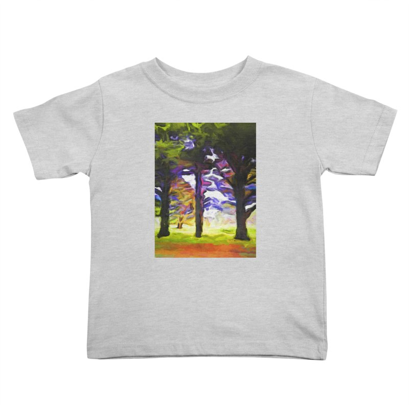 Trees in Row with Pink Branch Kids Toddler T-Shirt by jackievano's Artist Shop