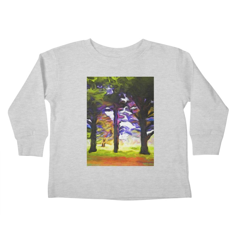 Trees in Row with Pink Branch Kids Toddler Longsleeve T-Shirt by jackievano's Artist Shop