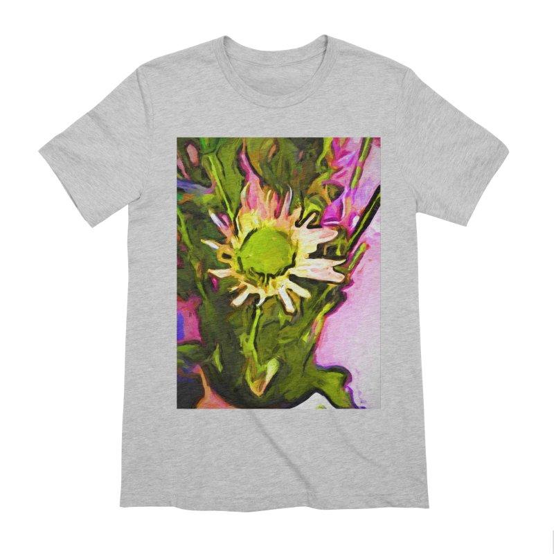 Big Daisy Evaporating Men's Extra Soft T-Shirt by jackievano's Artist Shop