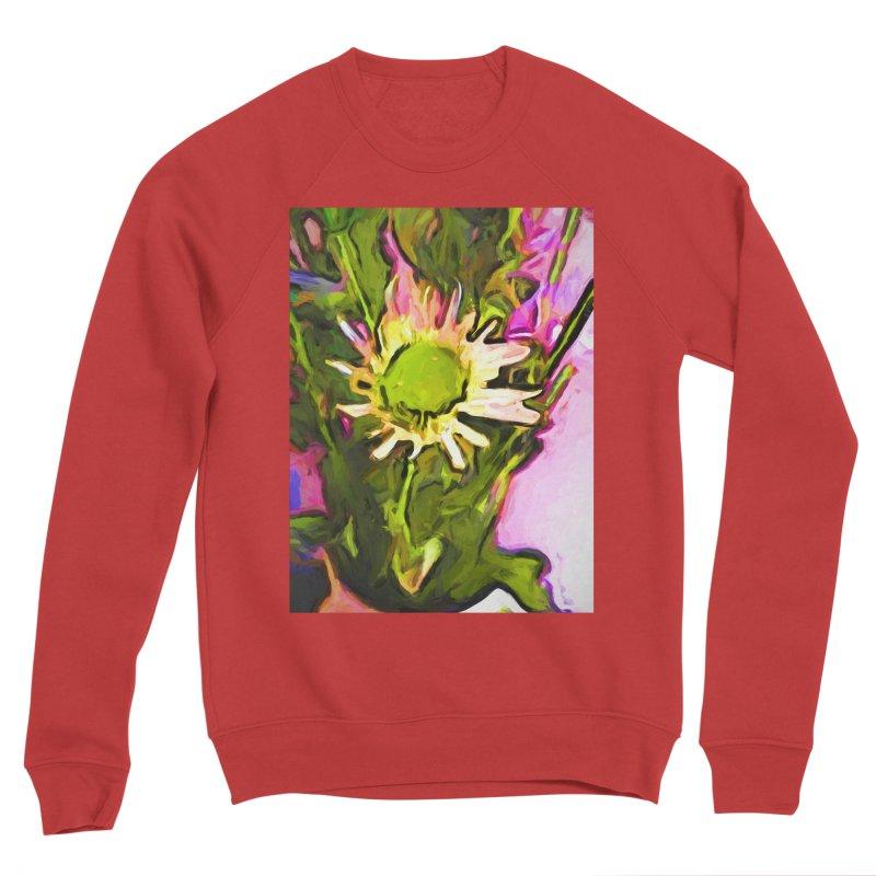 Big Daisy Evaporating Men's Sponge Fleece Sweatshirt by jackievano's Artist Shop
