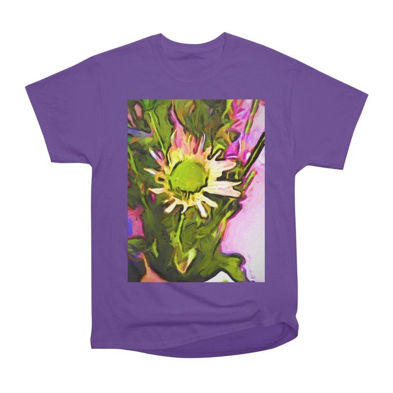Big Daisy Evaporating Women's Heavyweight Unisex T-Shirt by jackievano's Artist Shop