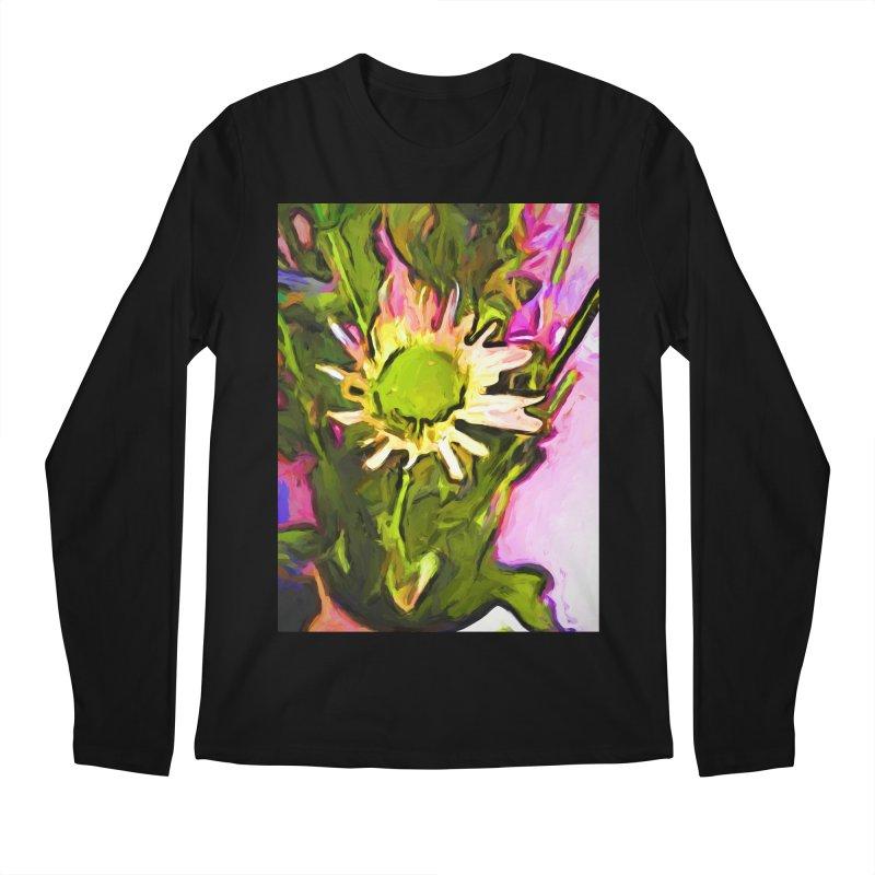 Big Daisy Evaporating Men's Regular Longsleeve T-Shirt by jackievano's Artist Shop