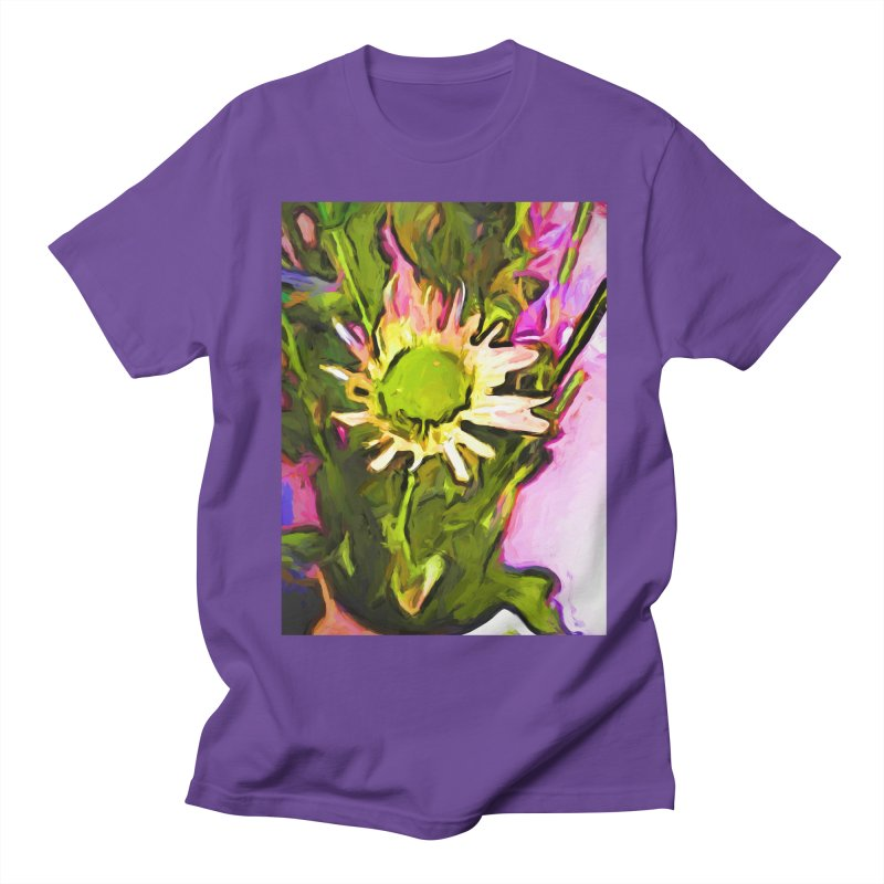 Big Daisy Evaporating Women's Regular Unisex T-Shirt by jackievano's Artist Shop