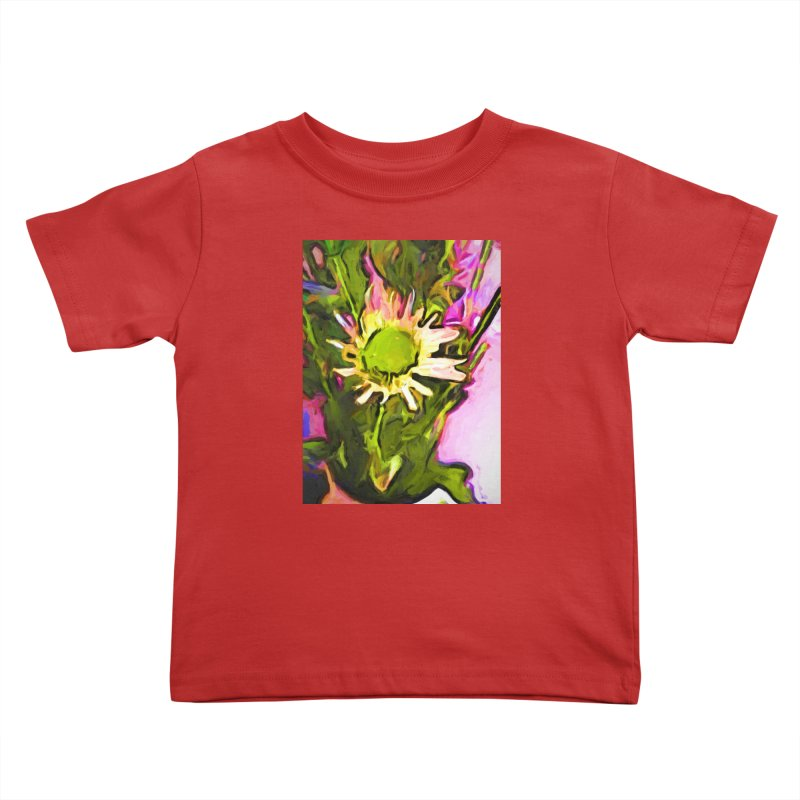 Big Daisy Evaporating Kids Toddler T-Shirt by jackievano's Artist Shop