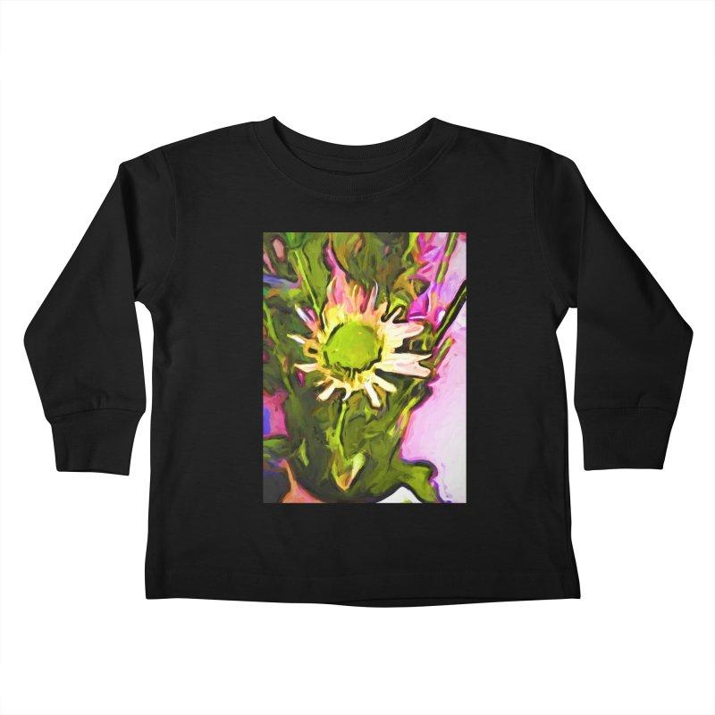 Big Daisy Evaporating Kids Toddler Longsleeve T-Shirt by jackievano's Artist Shop