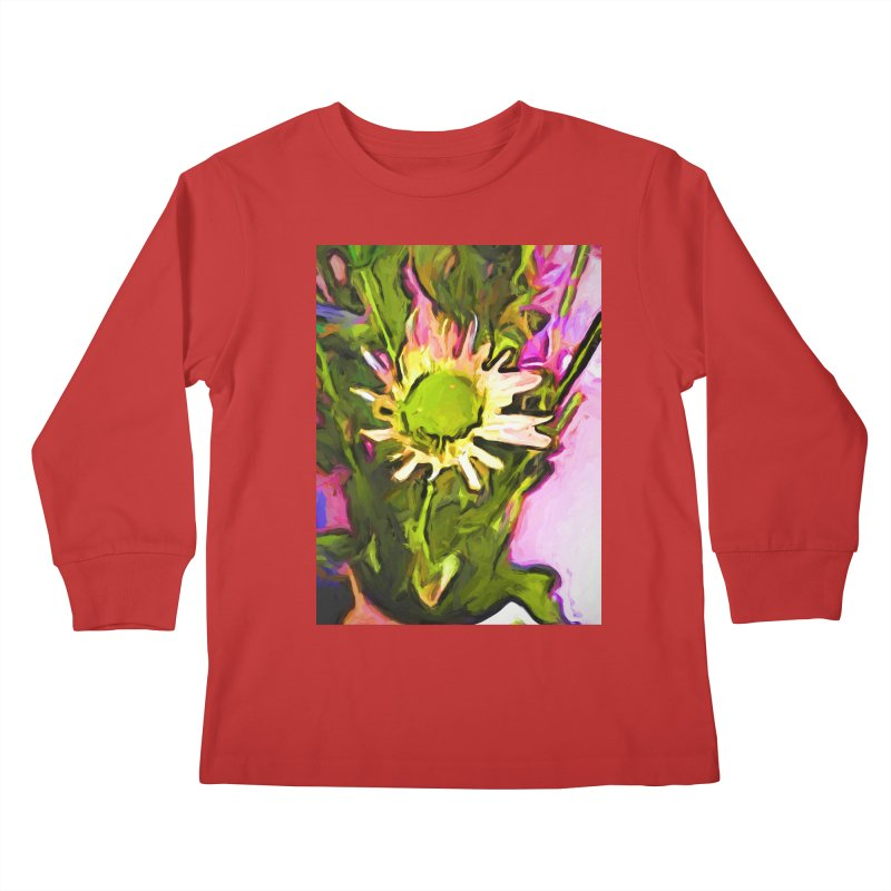 Big Daisy Evaporating Kids Longsleeve T-Shirt by jackievano's Artist Shop