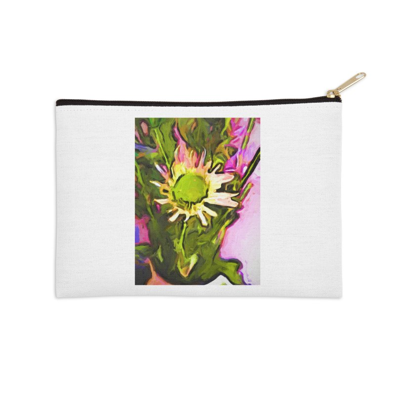 Big Daisy Evaporating Accessories Zip Pouch by jackievano's Artist Shop