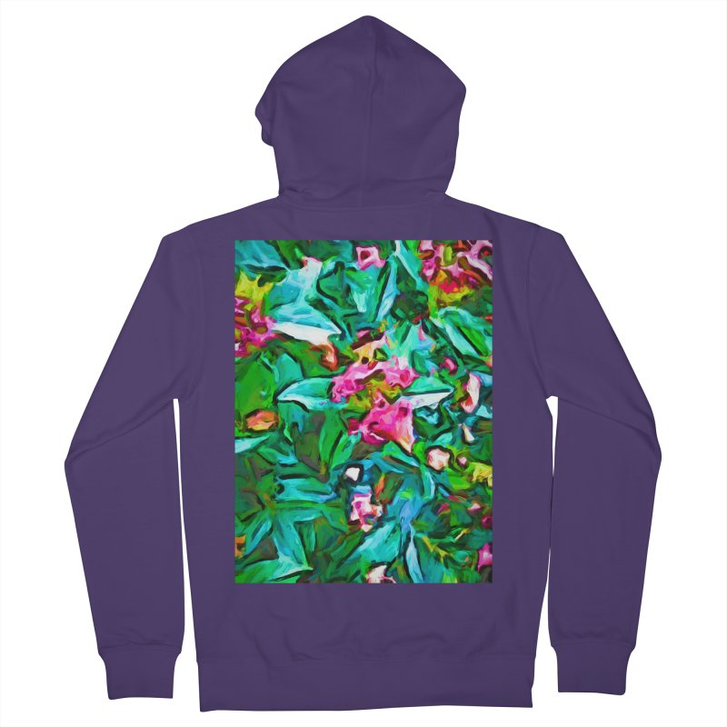Light on Leaves and Pink Buds Women's French Terry Zip-Up Hoody by jackievano's Artist Shop