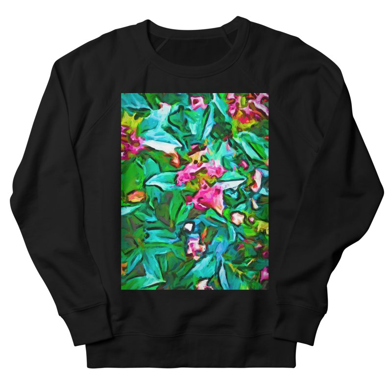 Light on Leaves and Pink Buds Men's French Terry Sweatshirt by jackievano's Artist Shop