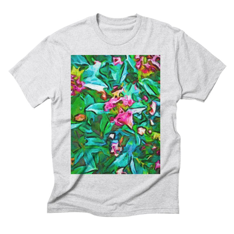 Light on Leaves and Pink Buds Men's Triblend T-Shirt by jackievano's Artist Shop