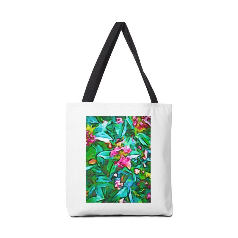 Light on Leaves and Pink Buds Accessories Bag by jackievano's Artist Shop