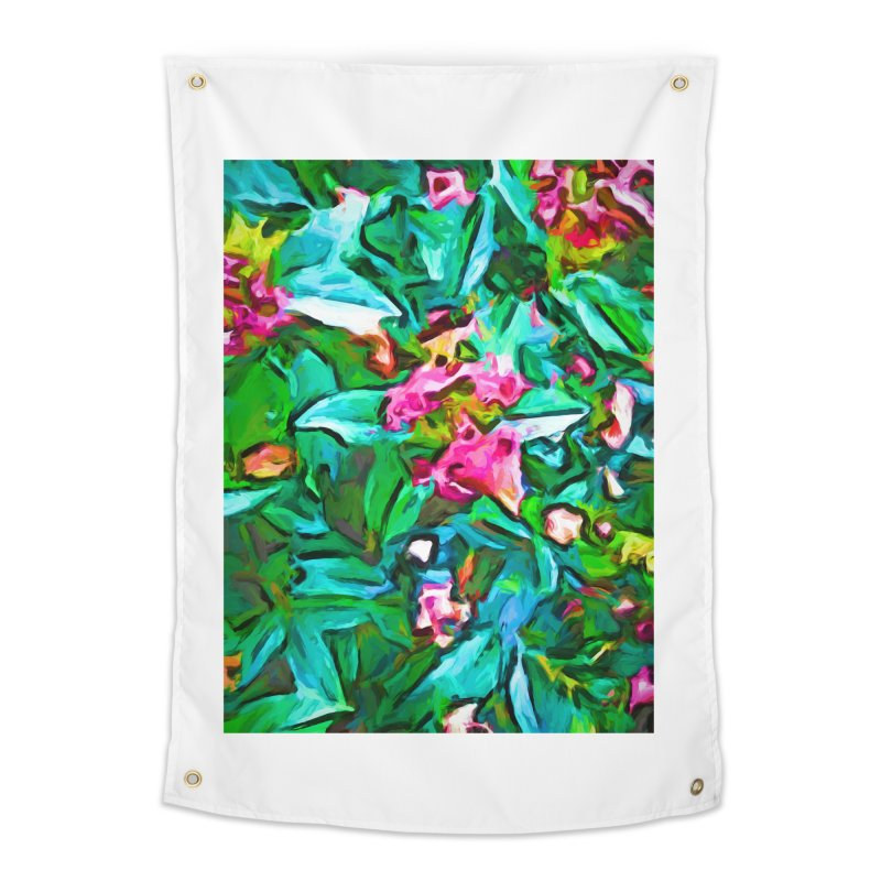 Light on Leaves and Pink Buds Home Tapestry by jackievano's Artist Shop