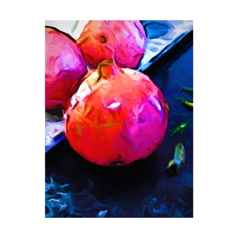 Blue Light on Red Pomegranates by jackievano's Artist Shop