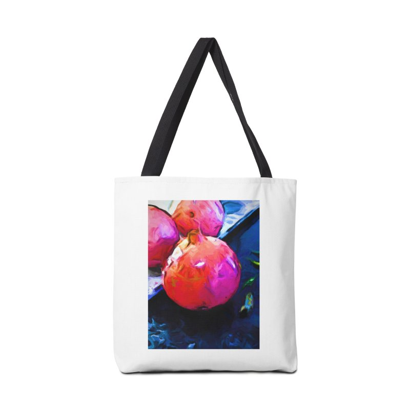 Blue Light on Red Pomegranates Accessories Bag by jackievano's Artist Shop