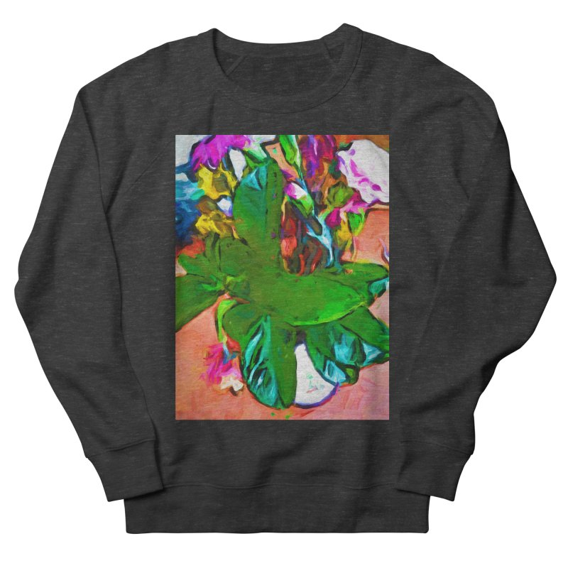 Vase with Plant Men's French Terry Sweatshirt by jackievano's Artist Shop