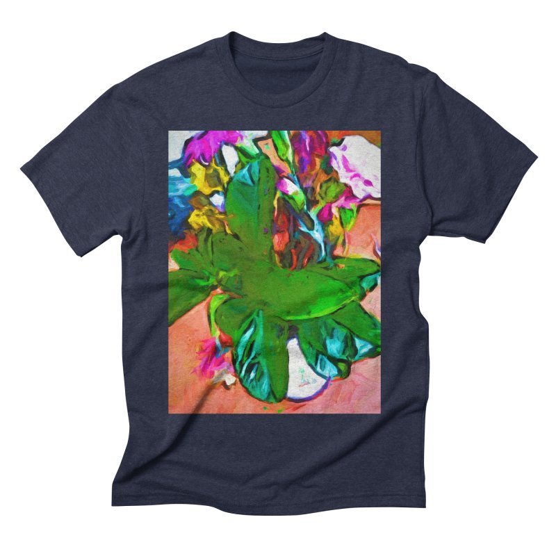 Vase with Plant Men's Triblend T-Shirt by jackievano's Artist Shop